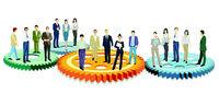 Business team working together - concept illustration