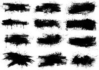 Ink Splashes Brush Strokes
