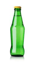 green soda water bottle