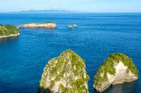 Small Rocky Islets Near the Tropical Coast