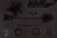 Set of erotic toys for BDSM.