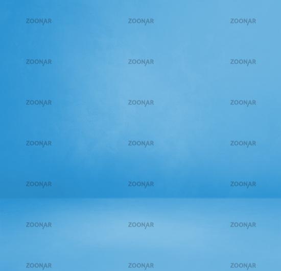 Empty blue concrete interior background