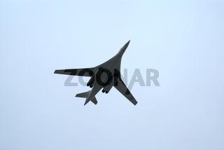 Tu-160 strategic bomber in flight