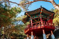 Hoeryongpo observatory Hoeryongdae traditional pavilion in Yecheon, Korea