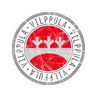 Vilppula city postal rubber stamp