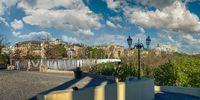 Square of old Odessa in Ukraine