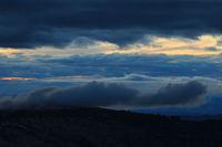 Dramatic evening sky over the Entlebuch region, Lucerne Canton.