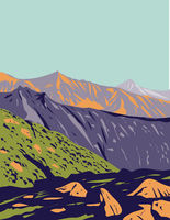 Val Grande National Park Located in Piedmont in the North of Italy Art Deco WPA Poster Art