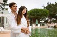 Young couple enjoying vacations