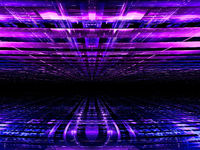 Blue and purple perspective background - abstract 3d illustration