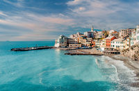 View of Bogliasco, fishing village in Italy