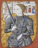 Saint Joan of Arc illustrated illumination in colour