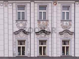 Hausfassade in Eger (Cheb)