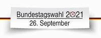 White Paper Banner Bundestagswahl 2021 German Flag