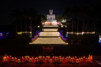 aerial view of big buddha statue