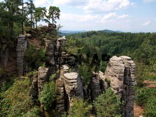 Prachauer Felsen in Tschechien