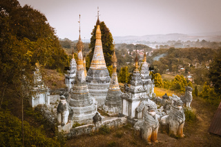 Ancient buddhist temple, Pindaya, Burma, Myanmar.