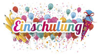 Confetti Balloons Letters Pencil Candy Cone Einschulung