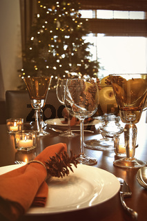 Still life of table setting for the holidays