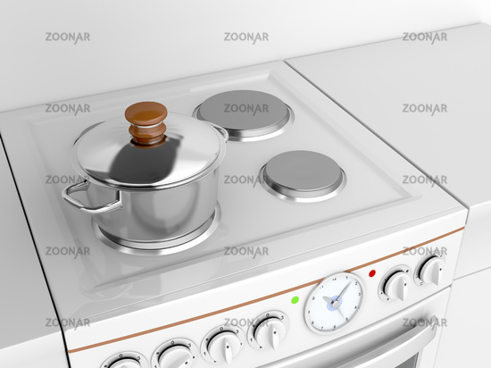 Cooking pot on a stove