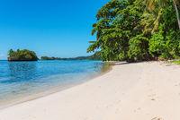 White sandy beaches on Batudaka island in Sulawesi