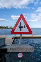 Seaplane Warning Sign