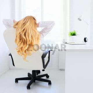 Business Girl Relax