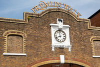 MAIDSTONE, KENT, UK - SEPTEMBER 6: View of the old clock at Fremlin Walk in Maidstone on September 6, 2021