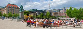 Platzkonzert im Kungstradgarden in Stockholm