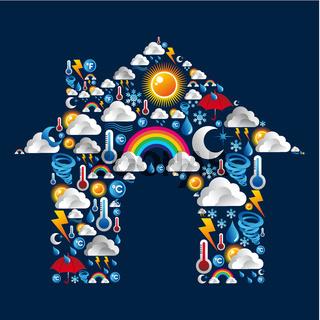 Weather Icons set house