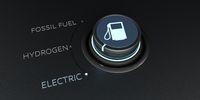 Control Knob Fossil Fuel Hydrogen Electric