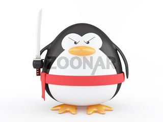 Fat ninja penguin