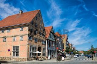 kyritz, deutschland - 03.06.2020 - alte fachwerkhäuser in der altstadt