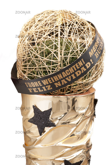 Merry Christmas ball with text