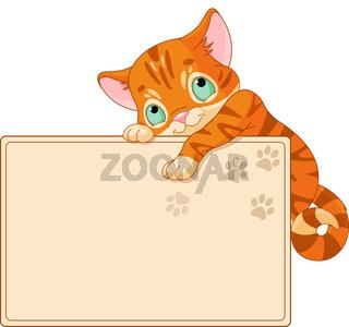 Cute kitten Invite or Placard