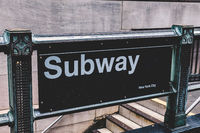 Wall street subway station in New York City.