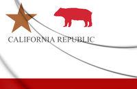 3D Flag of California Republic. 3D Illustration.