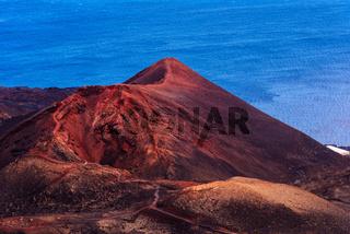 Teneguia Volcano cinder cone in the Island of La Palma