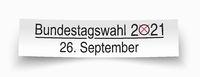 White Paper Banner Bundestagswahl 2021