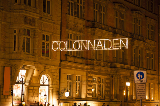 Shopping street in the center of Hamburg