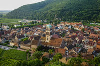 View of the medieval Kaysersberg in Alsace