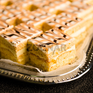 Desserts made from honey with glazing