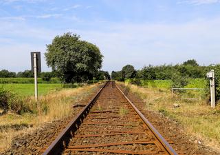 Bahnstrecke in Schleswig-Holstein