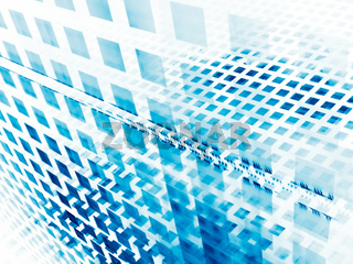 White and blue fractal background - abstract digitally generated 3d illustration