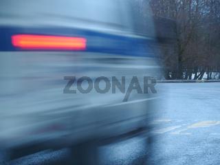 Police car motion blur
