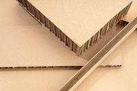 Corrugated Cardboard Background. Carton Detail