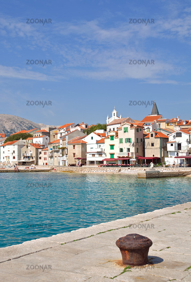 Baska on Krk Island in Croatia