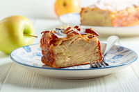 Invisible apple pie. Homemade cakes.