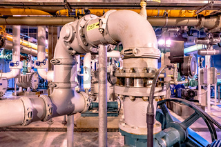 neavy duty industrial plant piping