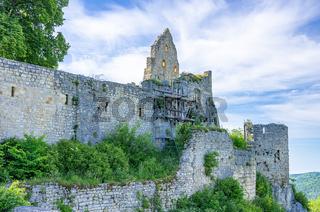 Burgruine Hohenurach, Schwäbische Alb, Deutschland